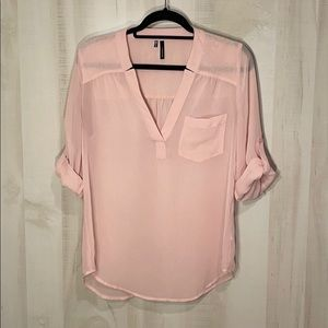 Maurices Sheer Pink Blouse Top